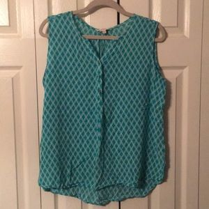 Sleeveless dressy shirt